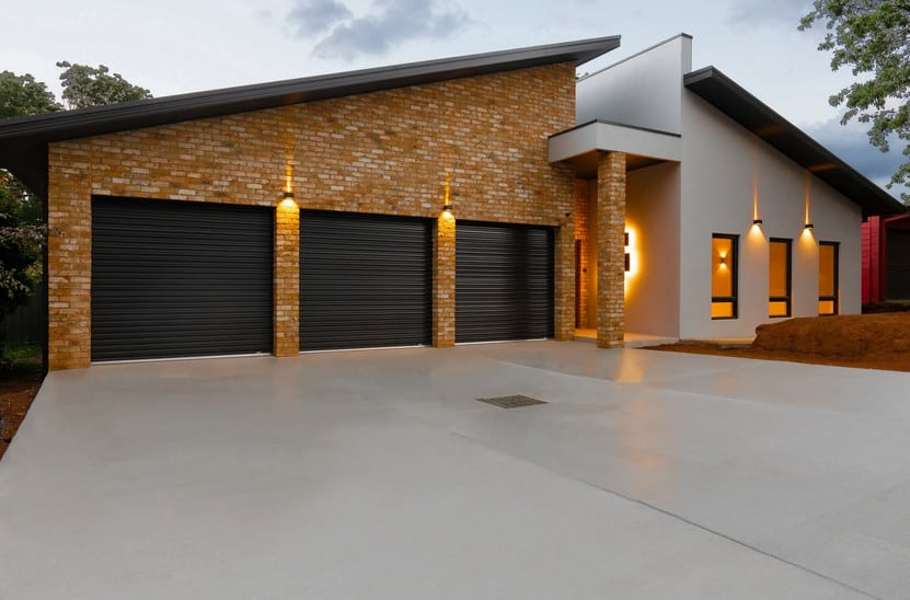 newly resurfaced concrete driveway in sydney