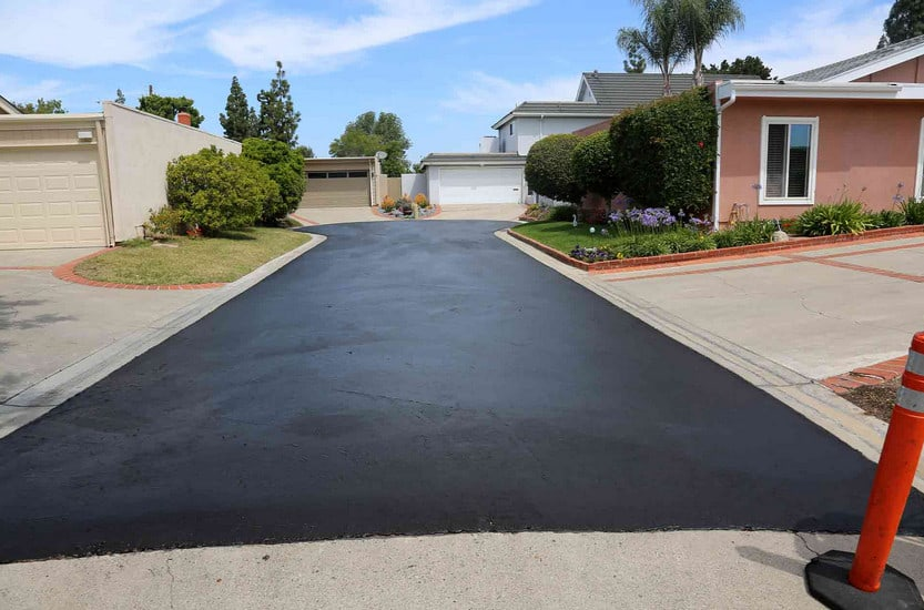 resurfaced private concrete driveway in sydney