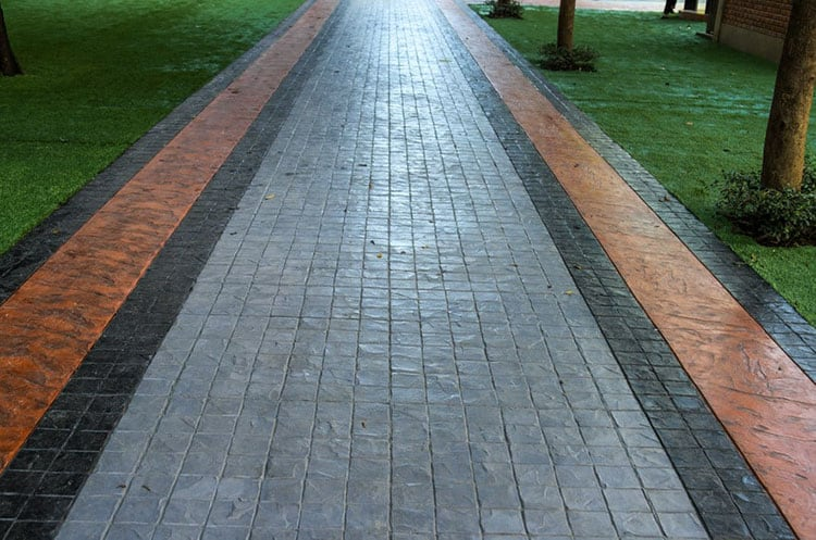 stamped decorative concrete resurfacing for pavement